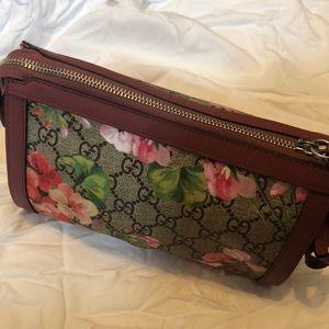 57e8a673b186b8 Gucci Bags | Antique Rose Gg Supreme Canvas Blooms Clutch | Poshmark